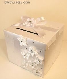 Wedding Card Box White Gift Card Box Money Box door bwithustudio