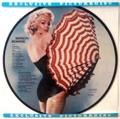 Marilyn Monroe Picture Disc LP Vinyl Record Album, All Round Trading, AR-30031, 1984, Original Denmark Pressing