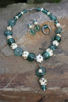 Lampwork glassbeads necklace