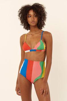 The Retro Swim Trend Thats Taking Over#refinery29 Mara Hoffman Triangle Bralette Bikini Top $125  - Bikini Swim Tops - Ideas of Bikini Swim Tops #BikiniSwimTops