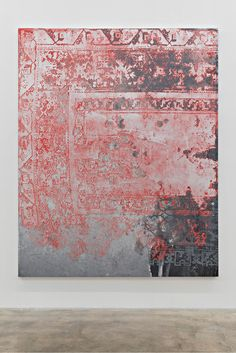 Rudolf Stingel / Untitled, 2015. Oil and enamel on canvas 95 × 76 inches (241.3 × 193 cm