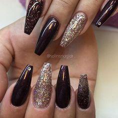 ❤❤❤❤❤❤❤ Nail Credit @solinsnaglar #nails#nail#acrylic#acrylicnails#glitter#2016#beauty#art#nailart#cosmotology#kustom#custom#glitter#glittermixes#instanails#nailswag#nailporn#nailpromote