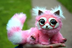 Little pink panda by SnowBars on Etsy