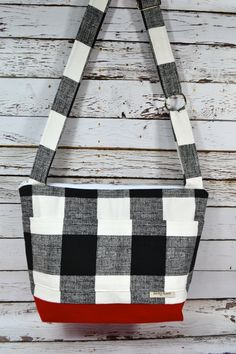 CAMERA Purse and Market Tote Bag / Black & White by DarbyMack
