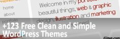123 Free Clean and Simple WordPress Themes