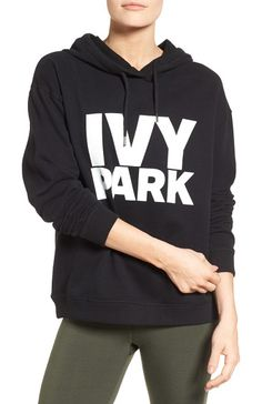 On SALE at 41% OFF! peached logo hoodie by IVY PARK. An oversized sweatshirt with a big logo graphic and funnel neckline has a hood so big you could get lost in it and ne...