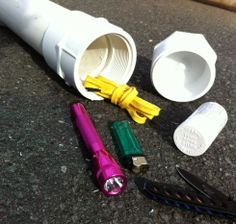 """DIY PVC Survival Cache...Survival caches are catching on in the homesteader and prepper communities. They are becoming a large part of what prepping is all about – redundancy. You want to have more than one of most things you have. After all, """"two is one, one is none,"""" right? You don't want to keep everything in one place, either, just in case of an emergency (or, God forbid, you have to bug out). That's where the survival cache comes in!"""