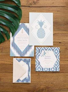 Faire-parts de mariage inspiration tropical - Crédit Photo: Ashley Kelemen - Faire-parts: Papermade Design - La Fiancée du Panda Blog Mariage et Lifestyle