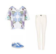 Casual Monay: Tonic London Gia T-shirt, A.P.C. jenas, adidas originals sneakers