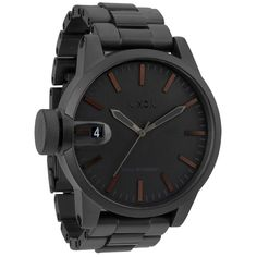 Nixon Men's Chronicle SS Matte Black and Dark Tortoise Watch | Overstock.com