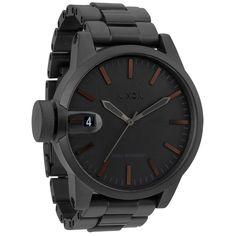 Nixon Men's Chronicle SS Matte Black and Dark Tortoise Watch | Overstock.com