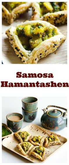 Samosa Hamantashen - My WordPress Website Paneer Recipes, Indian Food Recipes, Ethnic Recipes, Jewish Recipes, Food F, Good Food, Puff Pastry Recipes, Savory Pastry, Party Food And Drinks