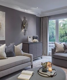 Sophie Paterson Interiors is a London and Surrey based design studio specialising in luxury residential interiors internationally. Living Room Grey, Living Room Interior, Home Living Room, Living Room Designs, Living Room Decor, Living Spaces, Lounge Decor, Luxury Interior Design, Interior Ideas