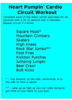 Heart Pumpin' Cardio Circuit Workout