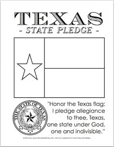 Texas Symbols Coloring Pages Fresh Free Texas Flag Coloring Sheet – Maydaysheet Texas Flag Pledge, Texas Flags, Kindergarten Social Studies, 4th Grade Social Studies, Kindergarten Classroom, Flag Coloring Pages, Coloring Book, Texas Crafts, Texas Teacher