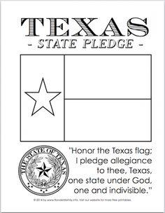 Texas Flag Pledge Printable | Texas Pledge of Allegiance Printables