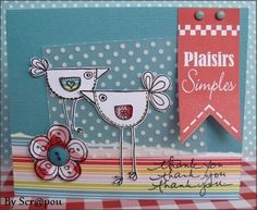 Card for spring, (swirlcards)