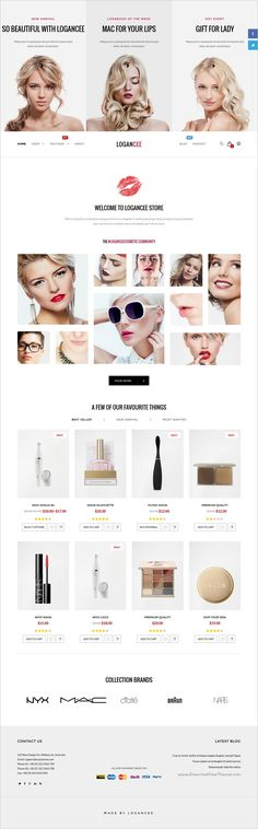 Logancee is an multipurpose #WordPress #WooCommerce theme suitable for #cosmetics #makeup shop stunning eCommerce websites with fully customizable download now➩   https://themeforest.net/item/logancee-multipurpose-ecommerce-wordpress-woocommerce-theme/18394029?ref=Datasata