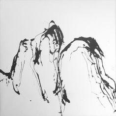 arbres & montagne-1 calligraphie  Jean Bouvet