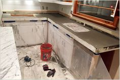 Taylor took a day last weekend and poured the concrete into the countertop molds that he created. If you missed the first step in the concrete countertop process, click here to catch up! The countertops are now finished, and I can't wait for you to see the finished piece! We just [...]
