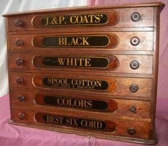 Antique J.P. Coats Spool Cabinet by Brasslanternantiques on Etsy