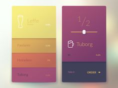 Bar App This is how you order beer with interactive interface, UX concept design for a bar menu.This is how you order beer with interactive interface, UX concept design for a bar menu. Mobile Ui Design, App Ui Design, Interface Design, Flat Design, Design Design, Design Ideas, Icon Menu, Apps, Mobiles Webdesign
