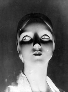 Schaufensterpuppe // We love these 1920 photographs taken in the art deco style of a store dummy's head. This hypnotic mannequin was most likely produced in Paris by Siegel & Stockman – years before Fritz Lang epitomised the look in Maria, heroine of the movie Metropolis (1927).