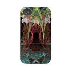 iPhone 4 Case: Rainbow Stalactites Abstract