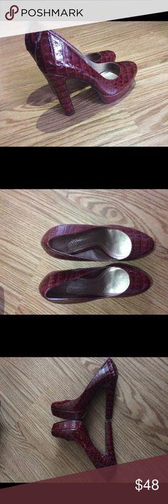 BCBG Heels Beautiful Burgundy BCBGeneration BCBGeneration Shoes Heels