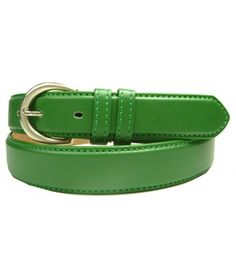 Lime Green Dress Leather Belts