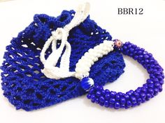 simply blue with crochet bag