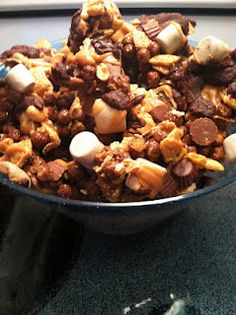 Chocolate peanut butter Chex mix