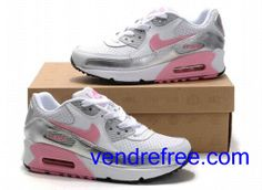 best loved 339b6 68b44 Vendre Pas Cher Femme Chaussures Nike Air Max 90 (couleur blanc,rose,noir)  en ligne en France.