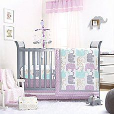 image of The Peanut Shell® Little Peanut Crib Bedding Collection in Lilac