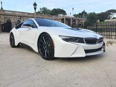 This Crystal White BMW i8 gets some aftermarket goodies - http://www.bmwblog.com/2016/07/11/crystal-white-bmw-i8-gets-aftermarket-goodies/
