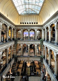 inside the Magna shopping plaza Amsterdam  This is my idea of a Mall!!!