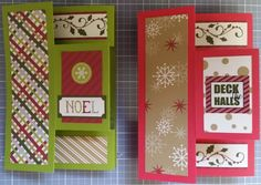 Two pop-up cards  using the new Christmas products. http://www.creativememories.com/user/lanitamedina