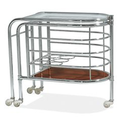 Modern Metropolis Trolley - modern - bar carts - Ralph Lauren Home Art Deco Bar, Consoles, Bar Trolley, Bar Carts, Drinks Trolley, Console Furniture, Steel Furniture, Deco Furniture, Estilo Art Deco