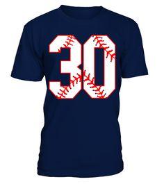 Thirtieth Birthday Party 30th Baseball T-Shirt Born 1987  Funny Birthday T-shirt, Best Birthday T-shirt