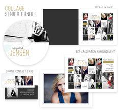 High School Senior Photoshop Templates by Jamie Schultz Designs
