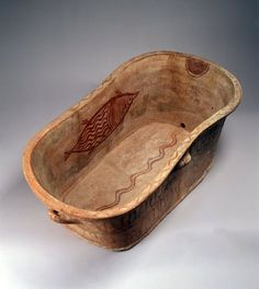 Minoan ceramic bathtub with decorations, about 1400BC