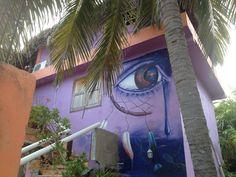 Graffiti in Holbox, Mexico