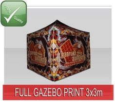 TENTFLAG.COM - PRINTED GAZEBO TENT - This Tent is including High Quality Sublimation print on the valances of the roof, where you can place your logo, web address etc. This gives you a personalised Promotion Tent for a small price!