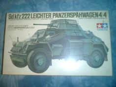 NOS Factory Sealed Box 1970's Tamiya 1-35 Scale Sd kfz 222 Leichter Panserspahwagen 4x4 Model by MyHillbillyWays on Etsy