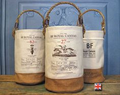 A canvas bucket designed in honor of Desert Orchid, the fifth best National Hunt horse of all time (according to the Brits).  Absolutely beautiful.