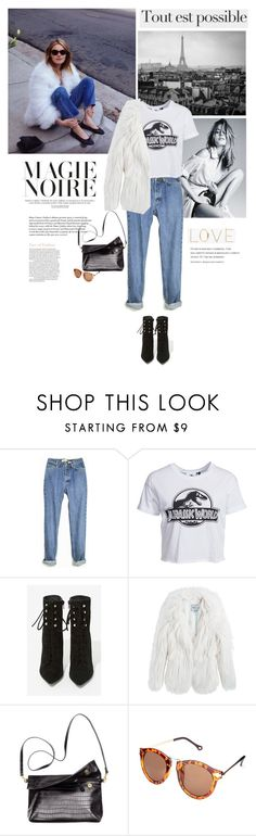"""""""Camille Rowe's vintage look."""" by v-niika ❤ liked on Polyvore featuring New Look, Jeffrey Campbell, Pepe Jeans London, Oliver Gal Artist Co., vintage, women's clothing, women, female, woman and misses"""