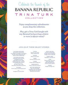 Trina Turk for Banana Republic. Stwórz #pin, który będzie zachęcał do odwiedzenia Twojego sklepu i odebrania zniżki.