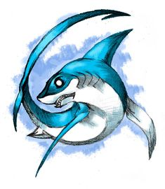Thresher Shark My name means Thresher Shark probably add in emerald (my bday stone) Might add this to the shoulder armor