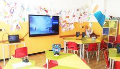 Mordern School by Didaskalos Modern Classroom, Corner Desk, Digital, School, Furniture, Home Decor, Corner Table, Decoration Home, Room Decor