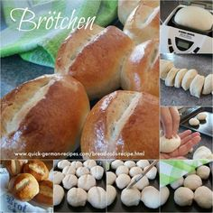 German Bread Rolls aka Brötchen are the BEST thing next to sliced bread! Check out http://www.quick-german-recipes.com/bread-rolls-recipe.html  PIN now and bake later!